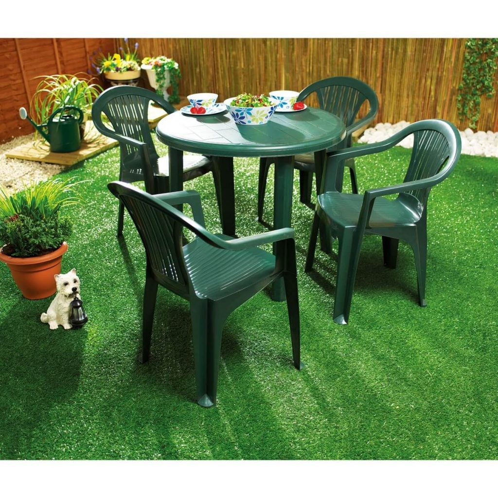 green resin garden furniture