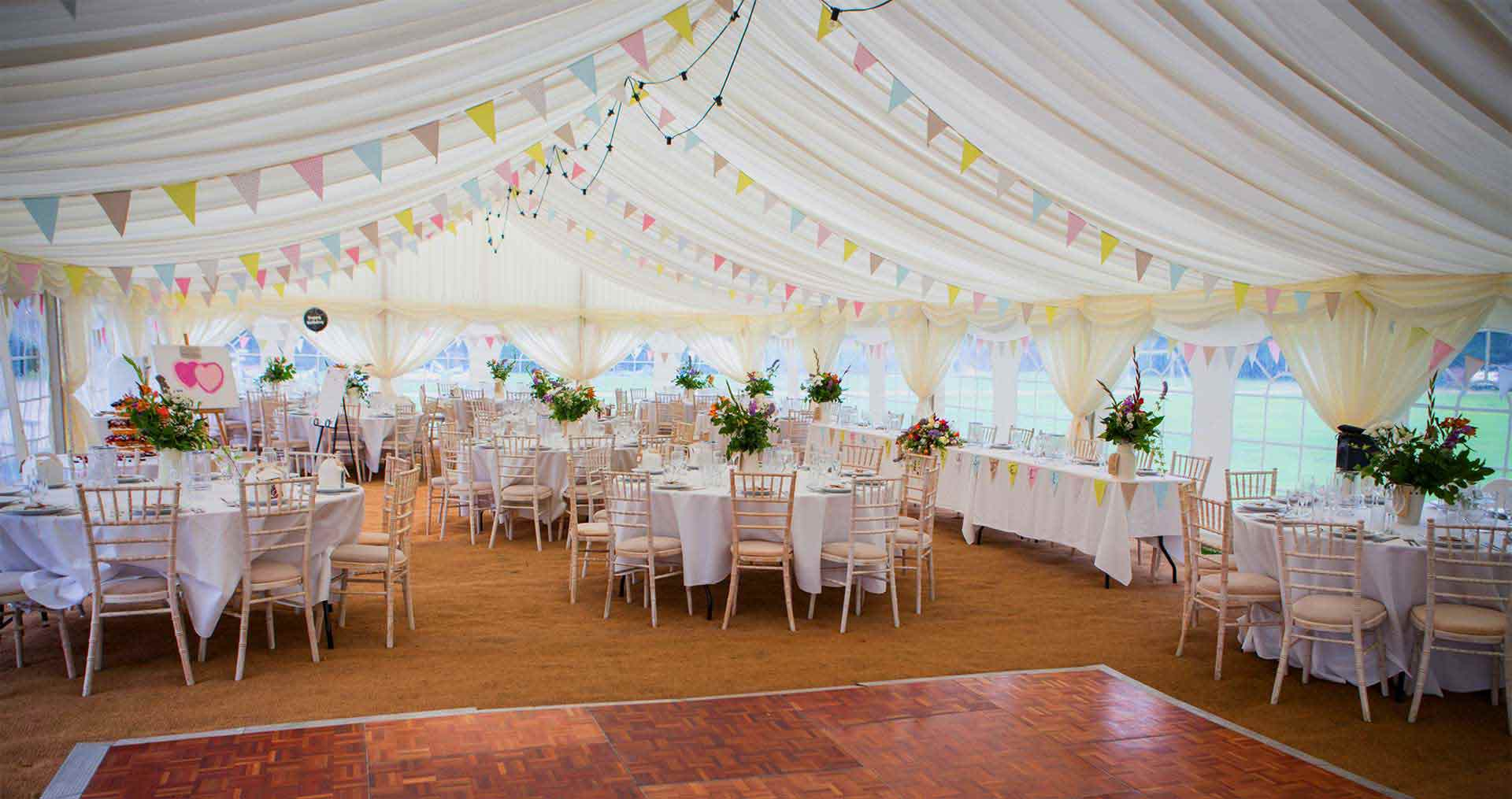 marquee hire wedding event