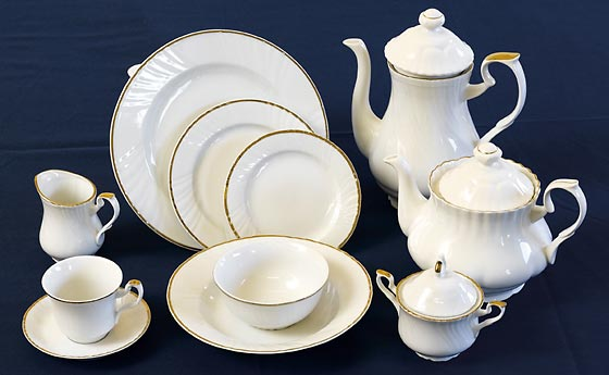Gold Trim crockery