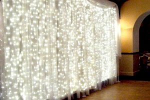 led lights hire wedding party