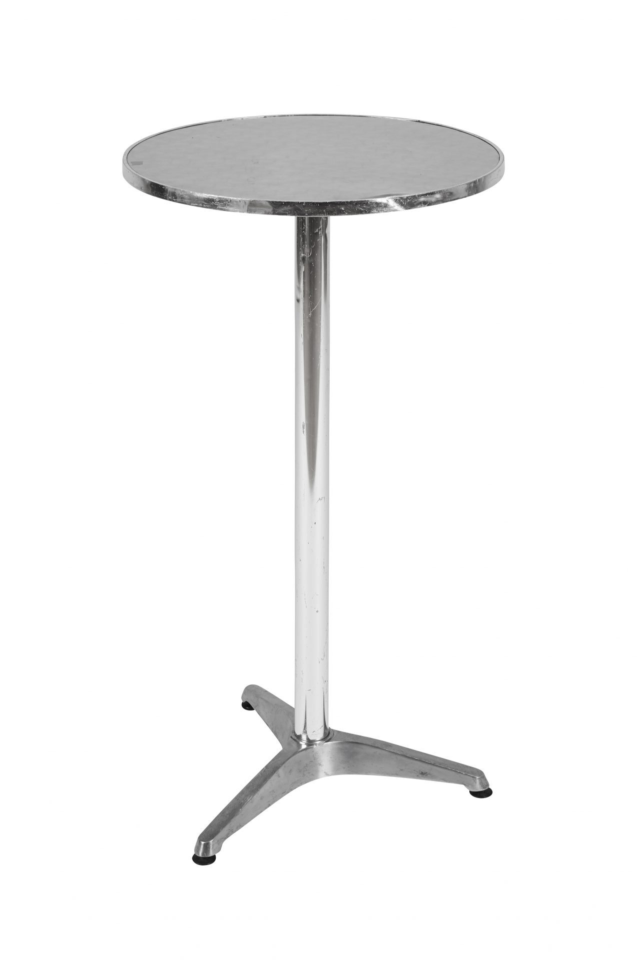 Aluminium single tier poseur table