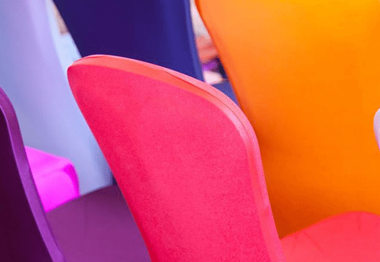 MULTICOLOURED CHAIR COVERS