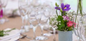 Flower Can Table Decoration