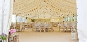 Wedding Marquee with furniture
