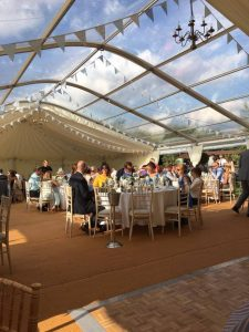 Clear Panel Roof Marquee