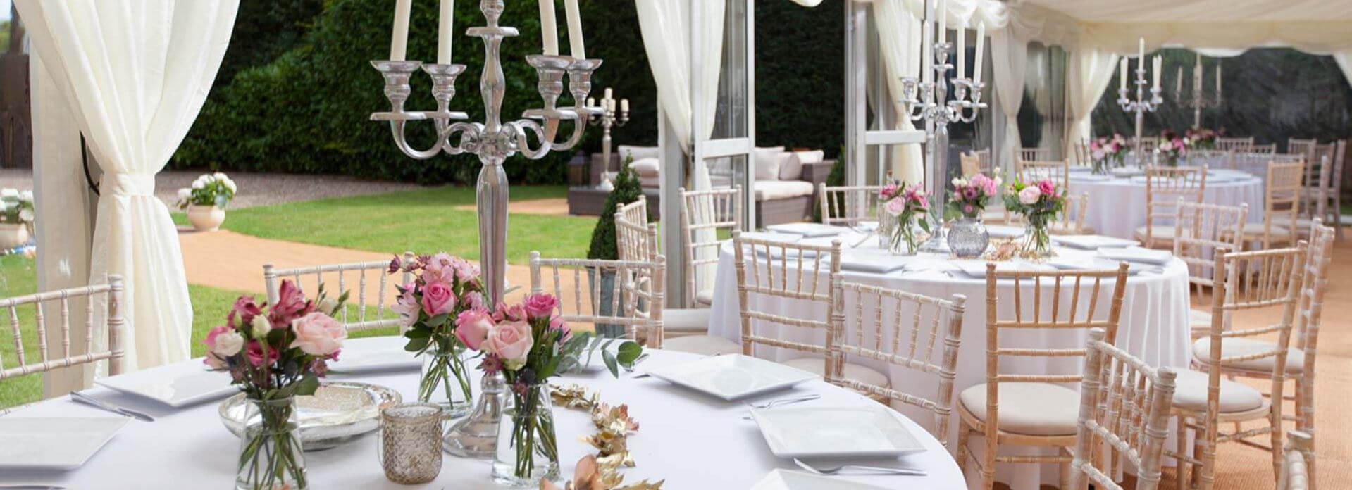 Dressed Tables In Marquee