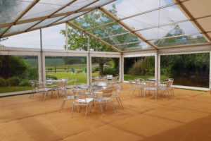 Aluminium Table Chair Sets Clear Span Marquee