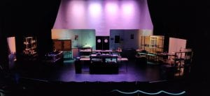 purple theatre set