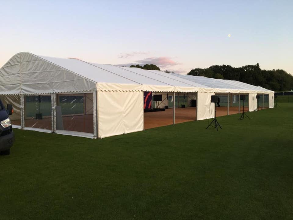 Marquee Set Up in field